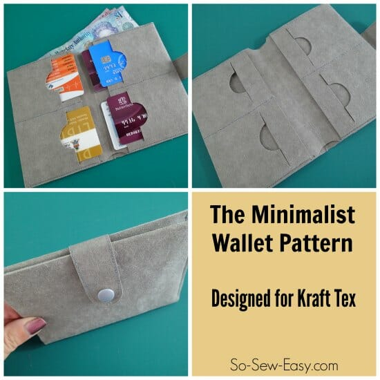 Kraft Tex wallet pattern. I live the slimline and functional look of the this Kraft Tex wallet - must give this new stuff a try.