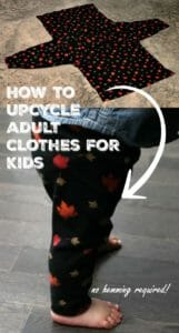Upcycle kid's clothes no hemming required