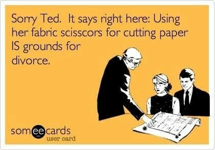 can you cut paper with your sewing scissors