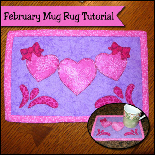 February Mug Rug Tutorial – Swishes and Hearts