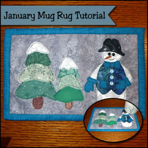 January Mug Rug Tutorial – It's SNOW much fun!