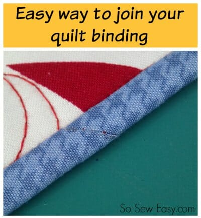 Easy trick to perfectly join quilt binding