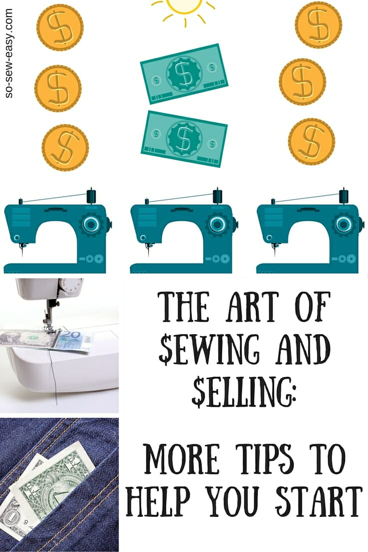 sewing and selling