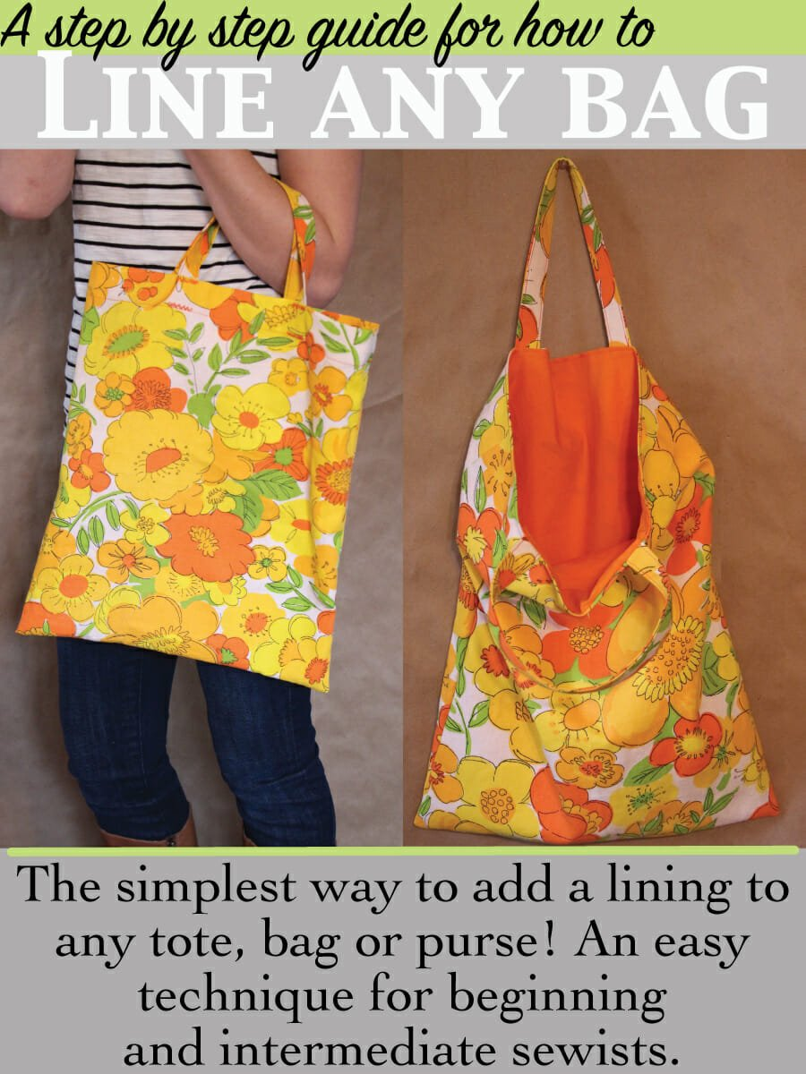 simplest way to line a bag