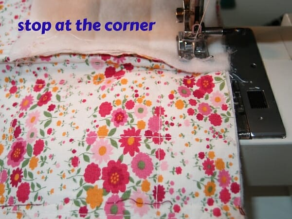 stop at the corner
