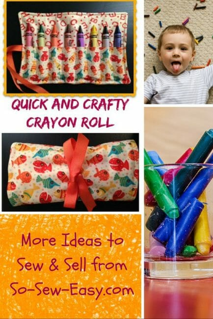 The Crafty Crayon Roll Up: A Perfect Beginner Project