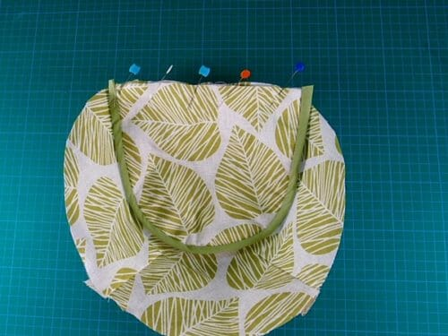 fabric covered basket
