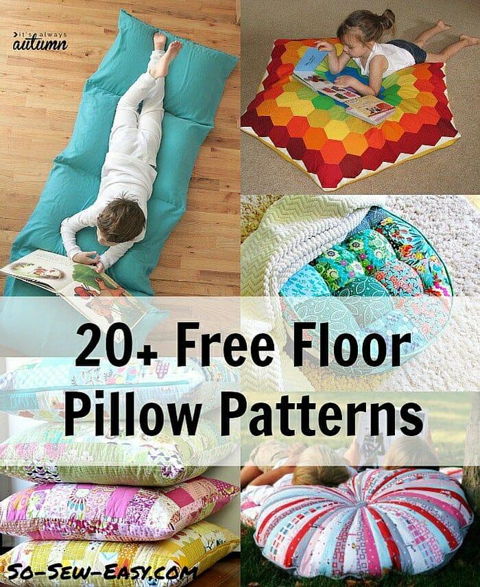 floor pillow patterns