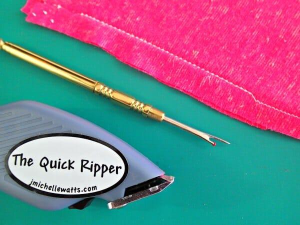unpicking knits - my seam ripper options