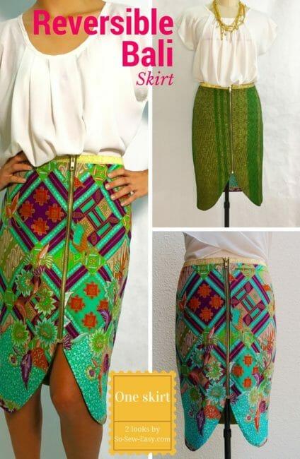 Reversible Skirt FREE Pattern:  Let's Call It Bali
