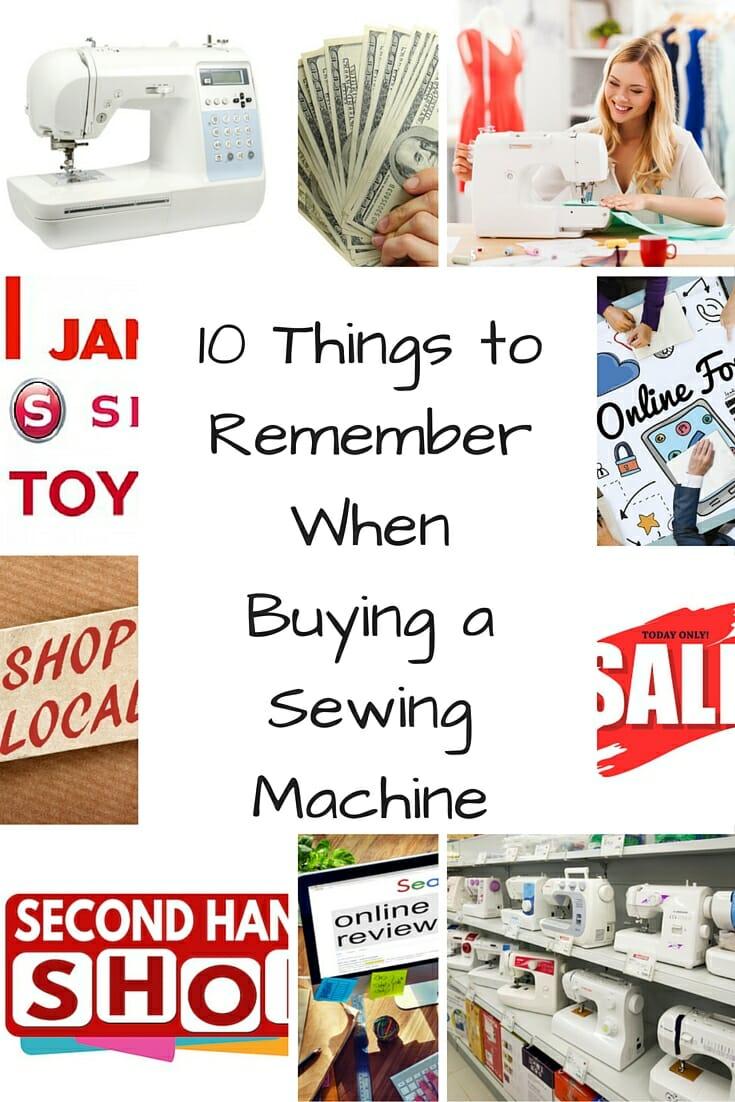 buying sewing machine