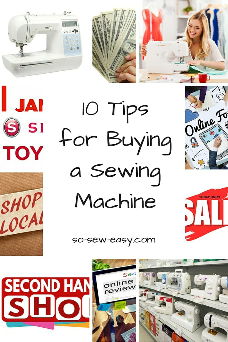buying sewing machine