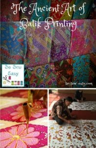 The Ancient Art of Batik Printing