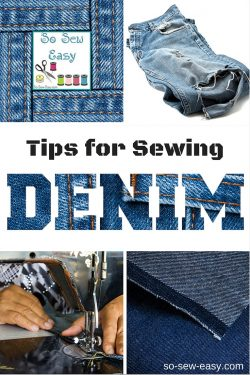 sewing denim