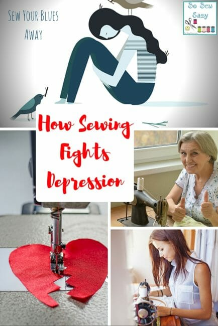 sewing fights depression