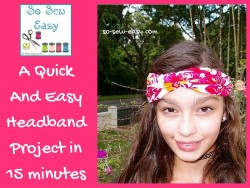 A Quick And Easy Headband Project in 15 minutes