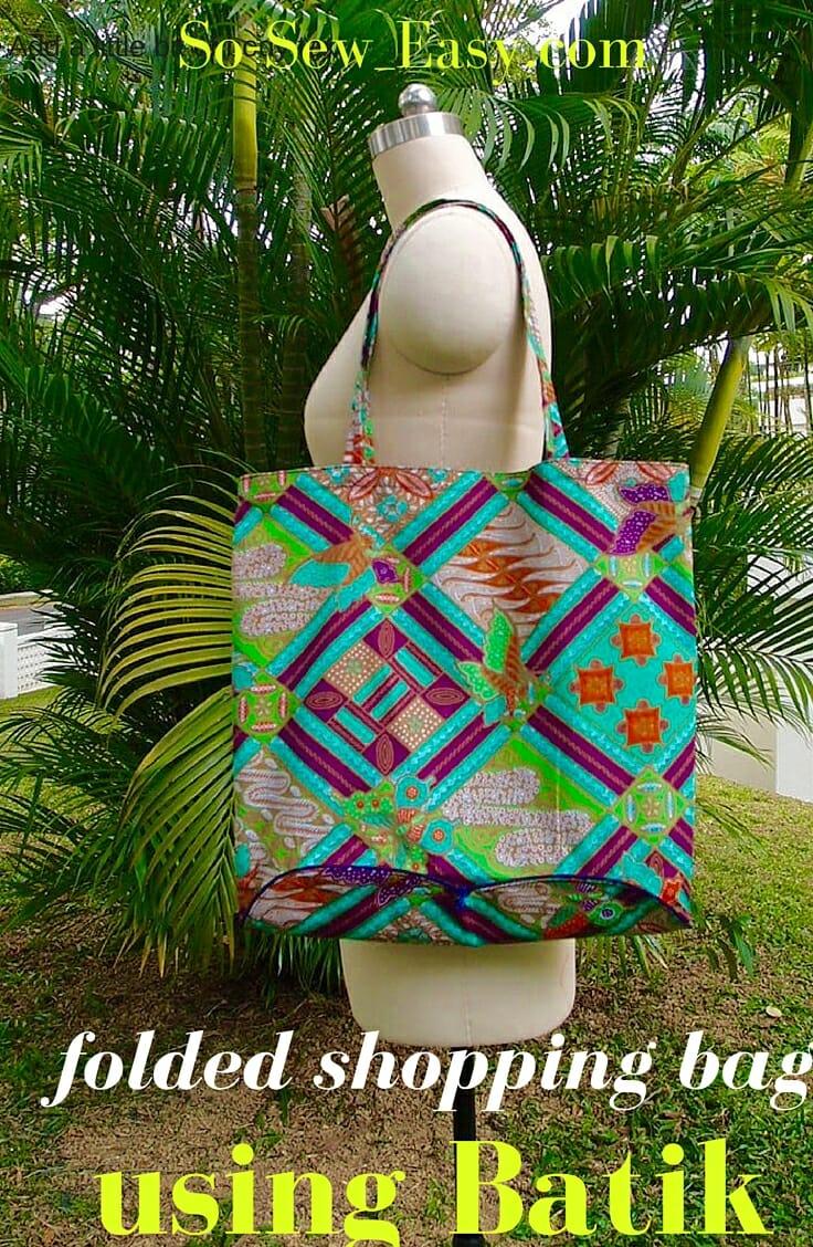 folded shopping bag