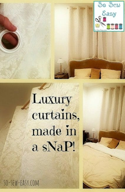 Easy DIY Curtains – Luxury Curtains Made in a Snap