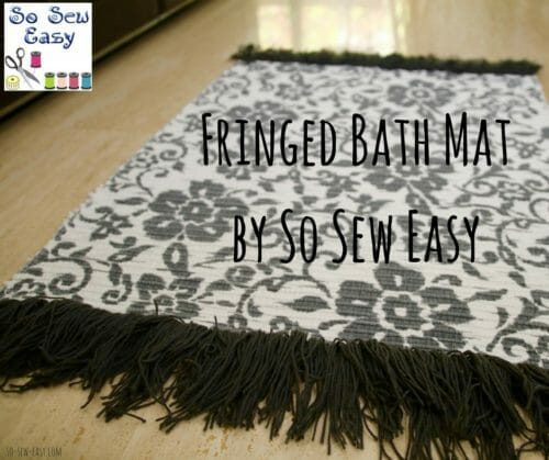 Fringed Bath Mat: A Fun and Functional Project