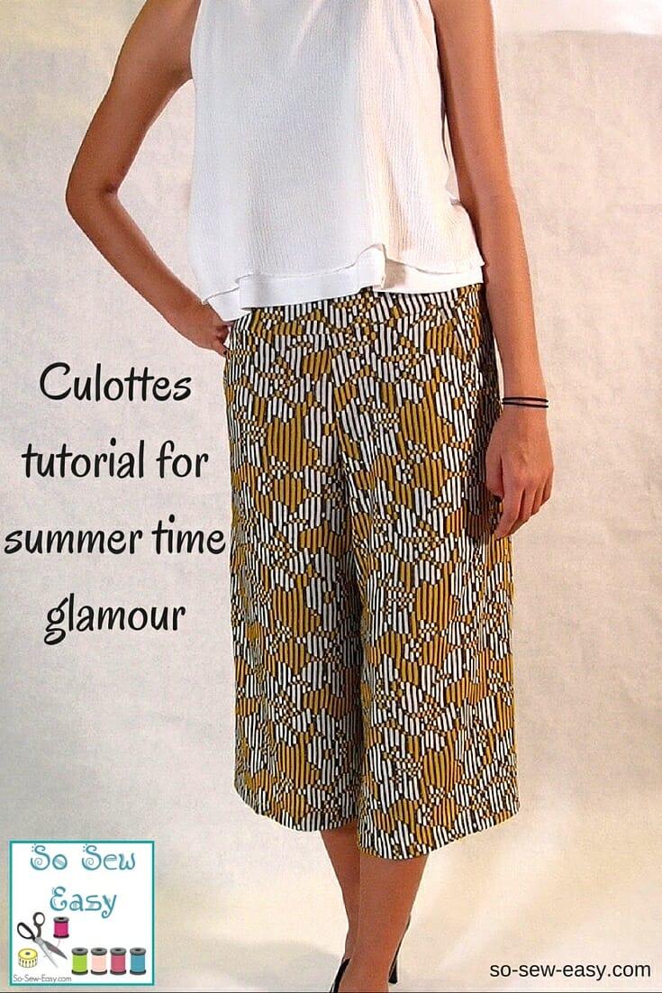 Culottes tutorial