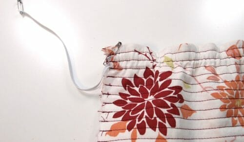 Shirring without elastic thread