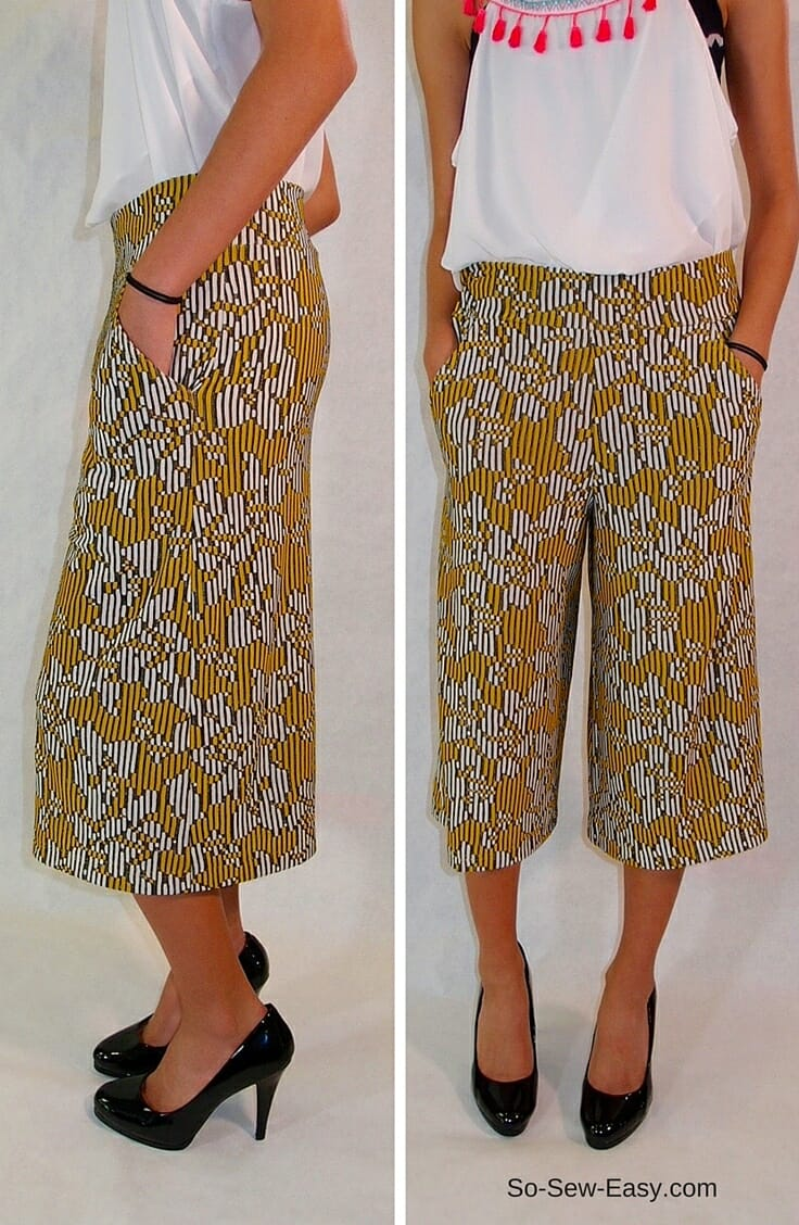 Culottes tutorial for summer time glamour - So Sew Easy
