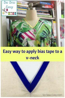 bias tape to a v-neck