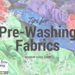 pre-washing fabrics