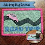 summer mug rug