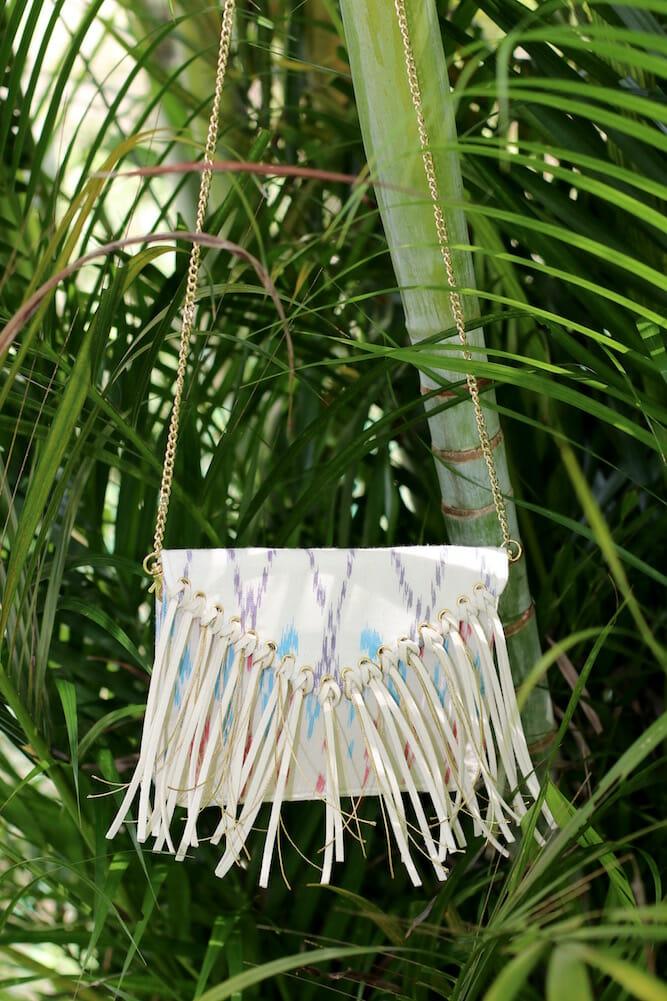 small fringed bag