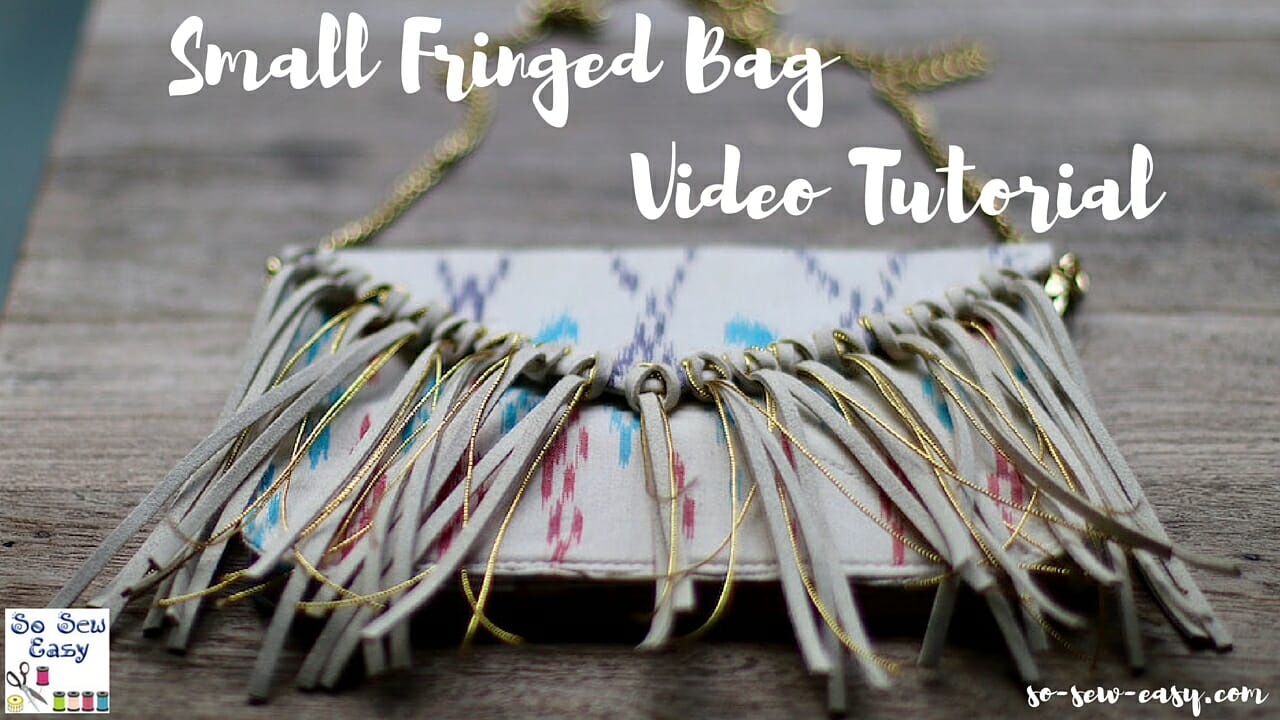 fringed bag video tutorial