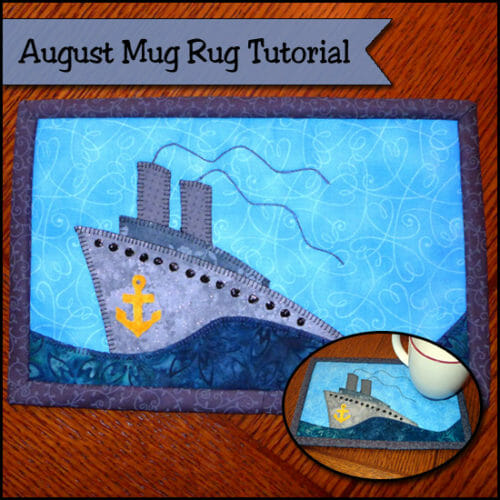ship mug rug