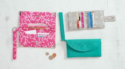 Sewing Wallets: Step by step. Learn lots of new sewing skills and techniques while sewing 3 fun and interesting wallet projects.