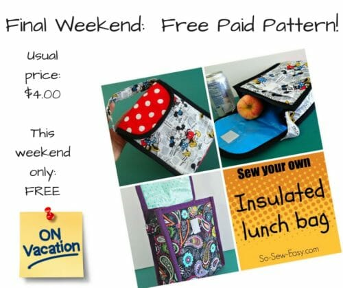 free pattern weekend