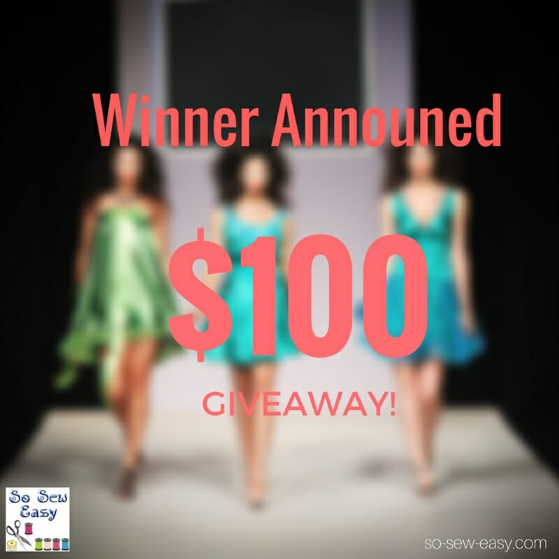 Giveaway Winner Announced