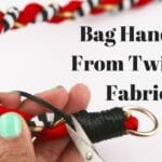 bag handles from twisted fabric