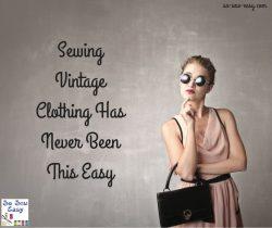 sewing vintage clothing