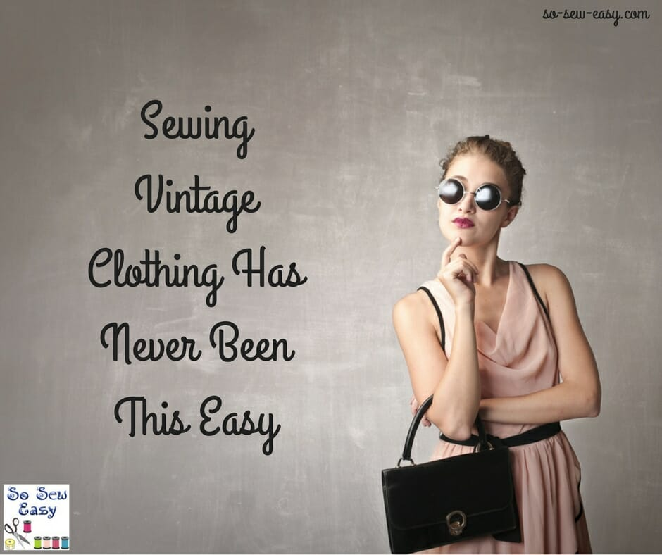 sewing vintage clothing