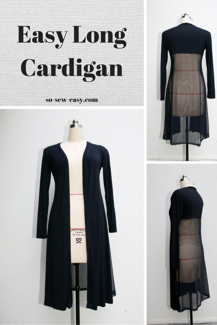 easy long cardigan