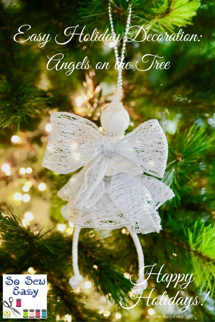Angel Christmas Tree Ornaments Diy Tutorial Sewing