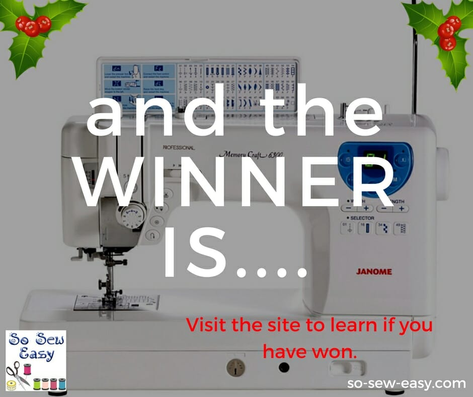sewing machine giveaway 2016