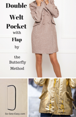 double welt pocket with flap