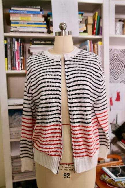 transform sweater into cardigan