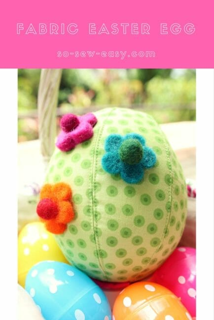 Fabric Easter Egg Made with Fabric Scraps