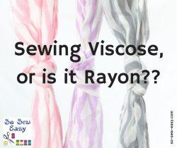 sewing viscose