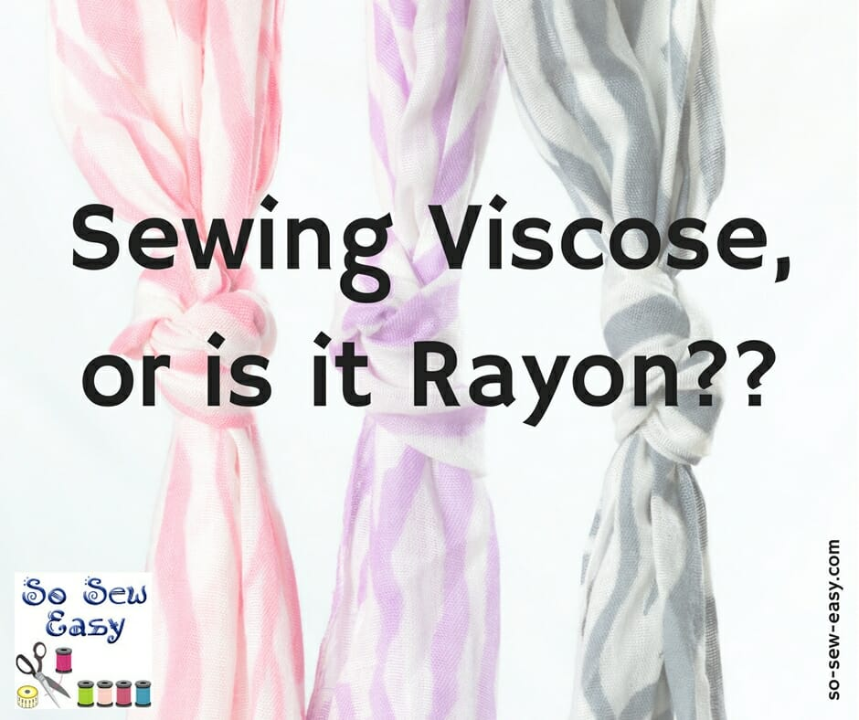 sewing viscose