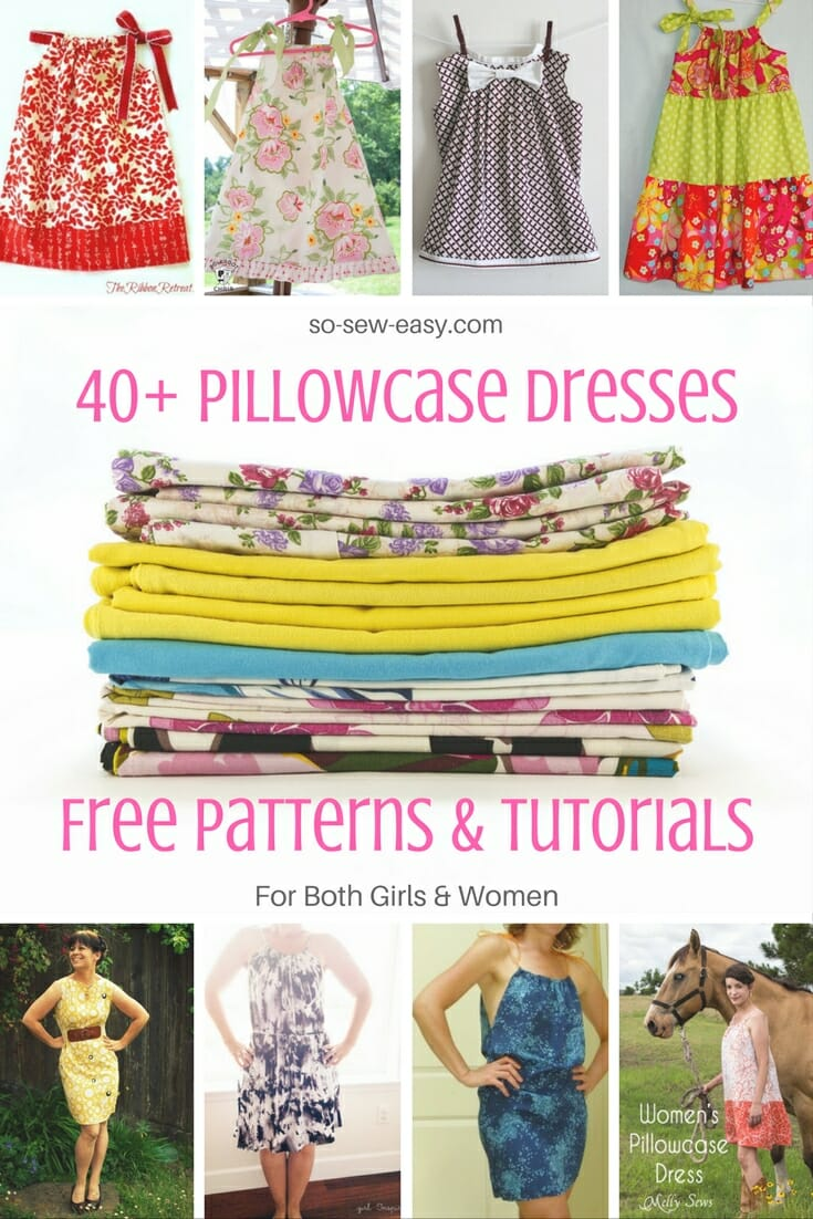 graphic relating to Free Printable Pillowcase Dress Pattern identify 40+ Pillowcase Clothes Free of charge Routines and Tutorials - Therefore Sew Simple