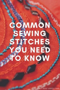 common sewing stitches