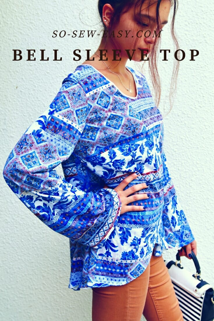 Bell Sleeve Top Pattern Transformation on clothing alteration tools
