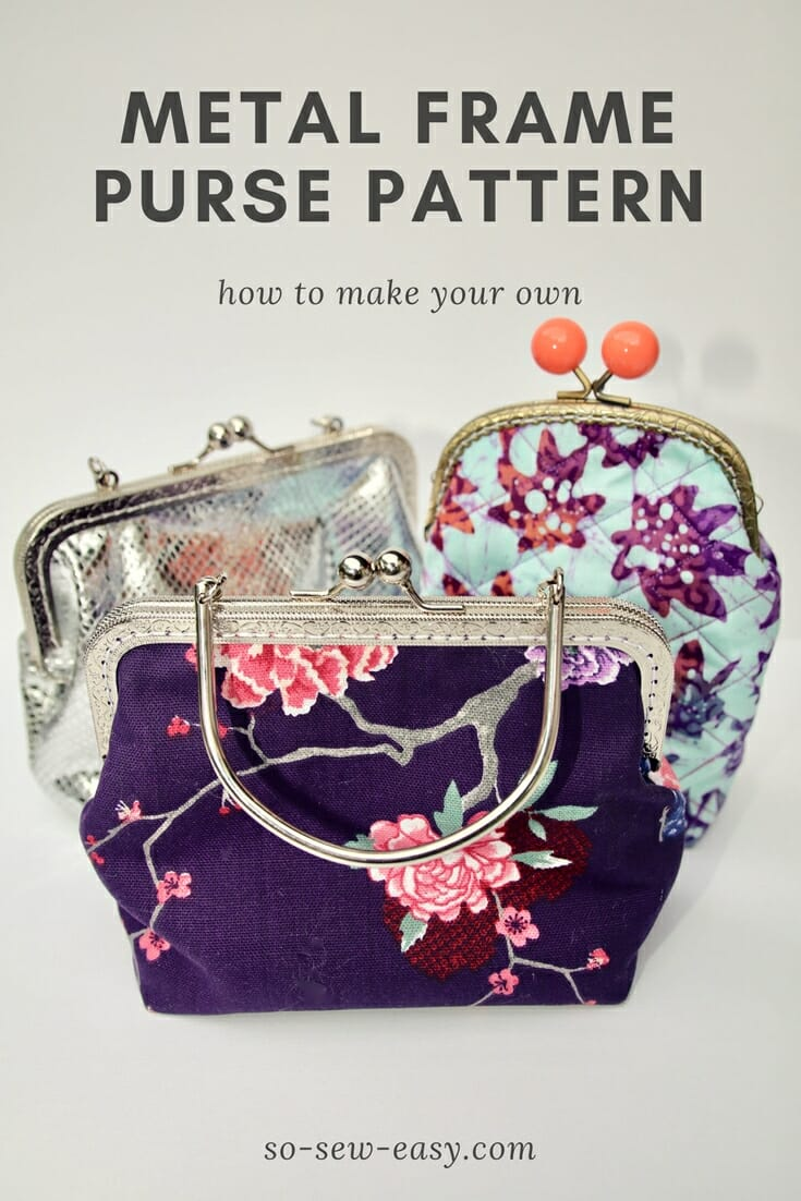 Metal frame purse pattern: How to make and